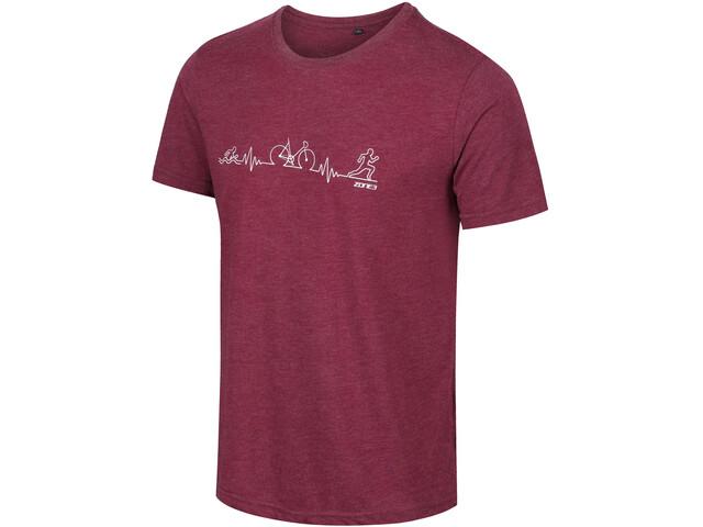Zone3 Graphic T-Shirt Men, rood